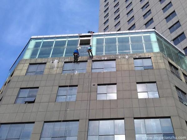 精捷建筑玻璃幕墙施工