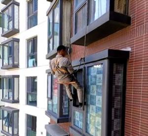 防水补漏 高空作业 窗户漏水处理